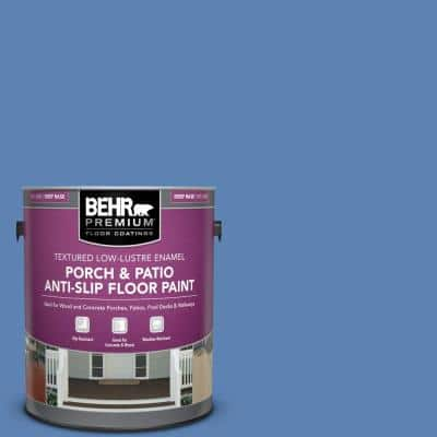 Behr Premium 1 Gal 750e 2 Twilight Gray Textured Low Lustre Enamel Interior Exterior Porch And Patio Anti Slip Floor Paint 625001 The Home Depot