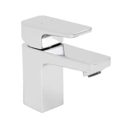Kubos Single Hole Single-Handle Bathroom Faucet with Drain Assembly in Polished Chrome