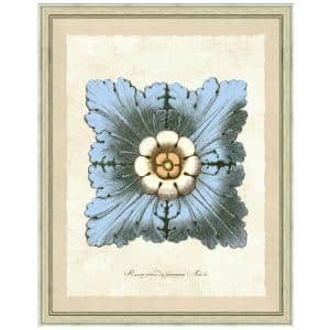Vintage Print Gallery 20 In X 24 In Antique Rosette Ii Framed Archival Paper Wall Art 1010 31 Ma58 13 Dk Whe 20x24 The Home Depot