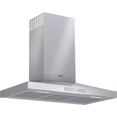 500 Series 36 in. 600 CFM Convertible Wall Mount Range Hood with Home Connect in Stainless Steel