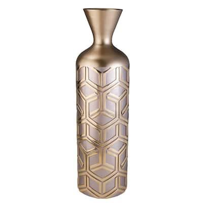 Savannah Rose Gold Polyresin Decorative Vase