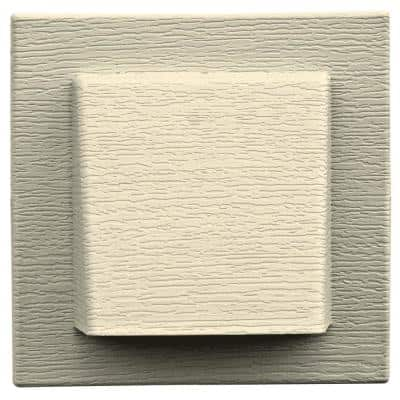 8 in. x 7.875 in. Water Management 4 in. Hooded Vent in #020 Heritage Cream
