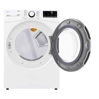 7.4 cu. ft. Ultra Large White Smart Electric Vented Dryer with Sensor Dry & Wi-Fi Enabled