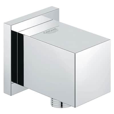 Euphoria Cube 2 in. Shower Wall Union in Starlight Chrome