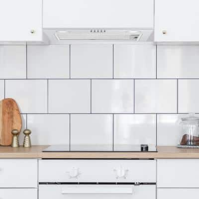 20 in. 280 CFM Ducted Insert Range Hood with LED Lights in Stainless Steel