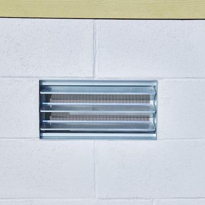 Block Style 16 in. x 8 in. Aluminum Foundation Vent