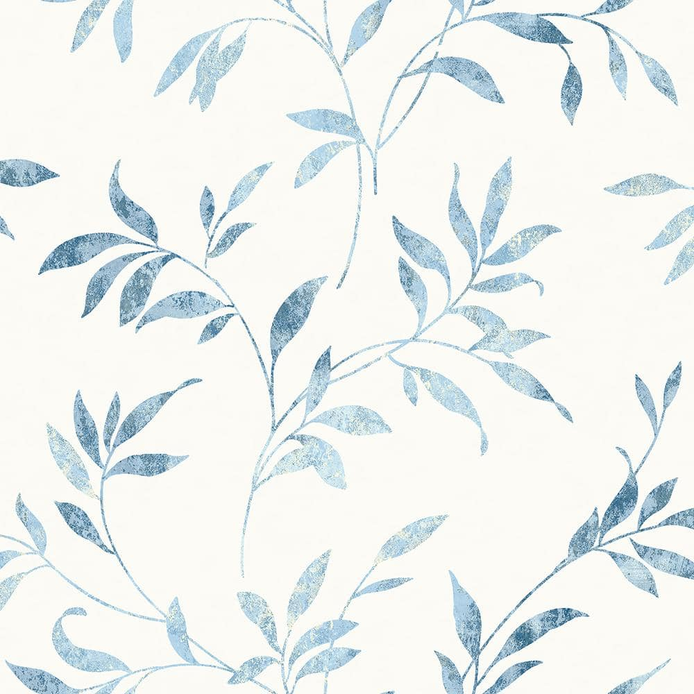 Chesapeake Sanibel Light Blue Trail Paper Strippable Roll Covers 56 4 Sq Ft 3117 54516 The Home Depot