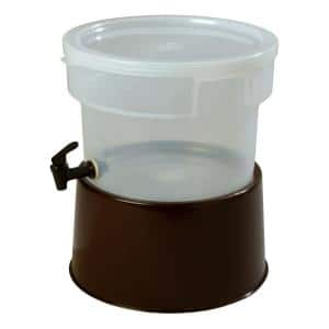 3 gal. Polypropylene Beverage Dispenser with Base in Translucent and Brown Base