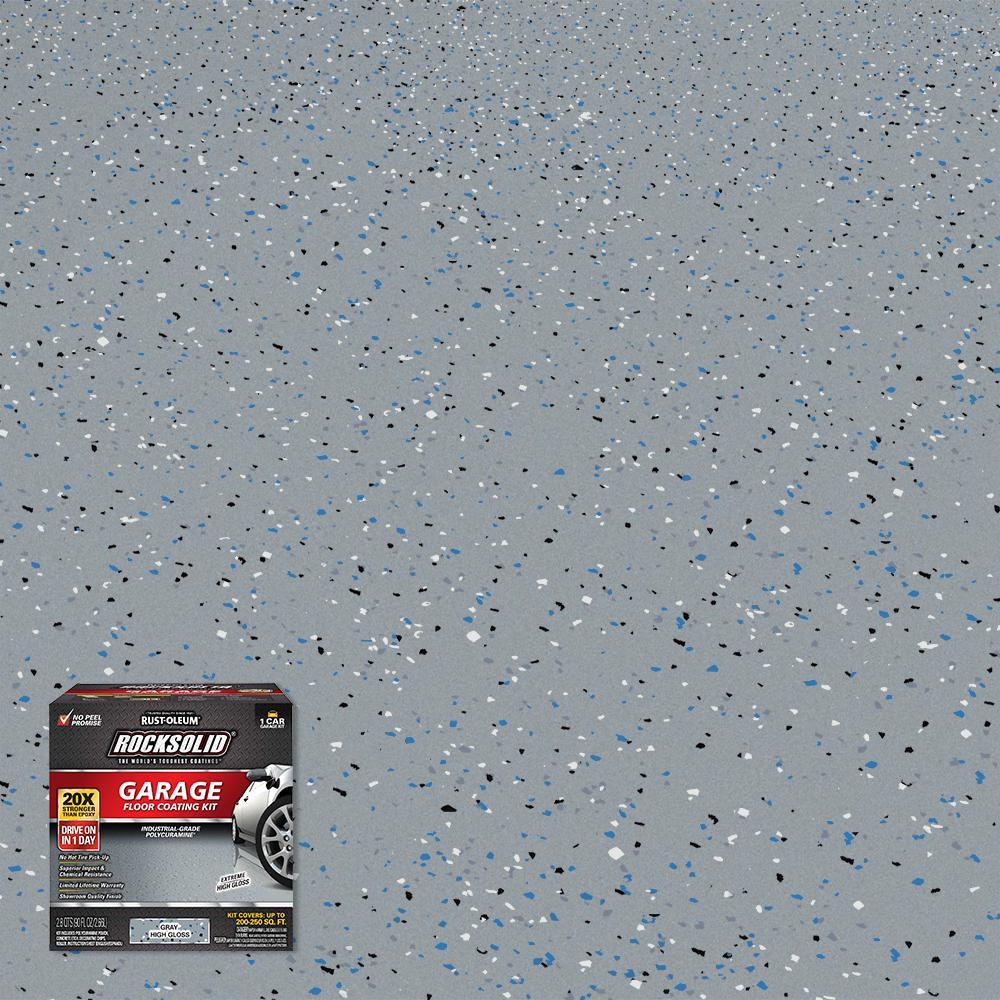 90 oz. Gray Polycuramine 1 Car Garage Floor Kit
