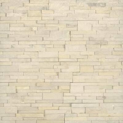 Salvador Beige Ledger Panel 6 in. x 24 in. Natural Sandstone Wall Tile (8 sq. ft./Case)