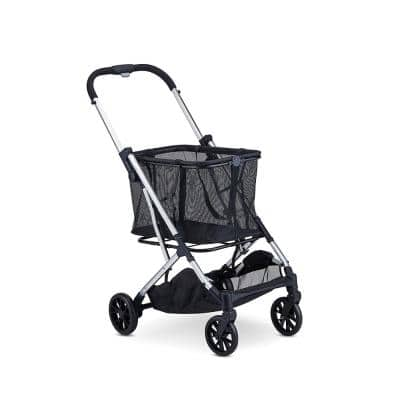 Boot Personal Compact Multi-Purpose Aluminum Frame Shopping Cart in Silver