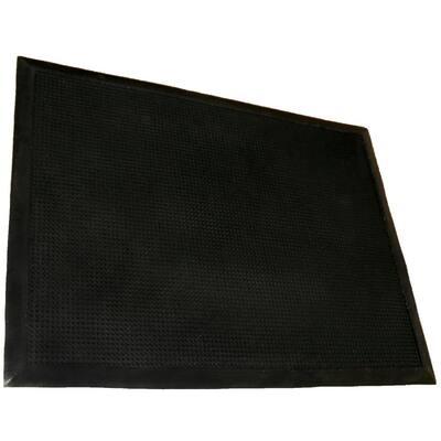 Tritan Finger Tip Black Bristled 32 in. x 39 in. Entrance Mat
