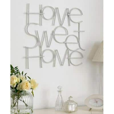"""17 in. x 25 in. """"Sweet Home"""" by Graham and Brown Metal Wall Art"""