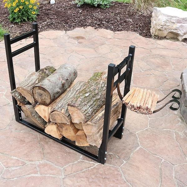 Sunnydaze Decor 30 In Indoor Outdoor, Outdoor Log Rack