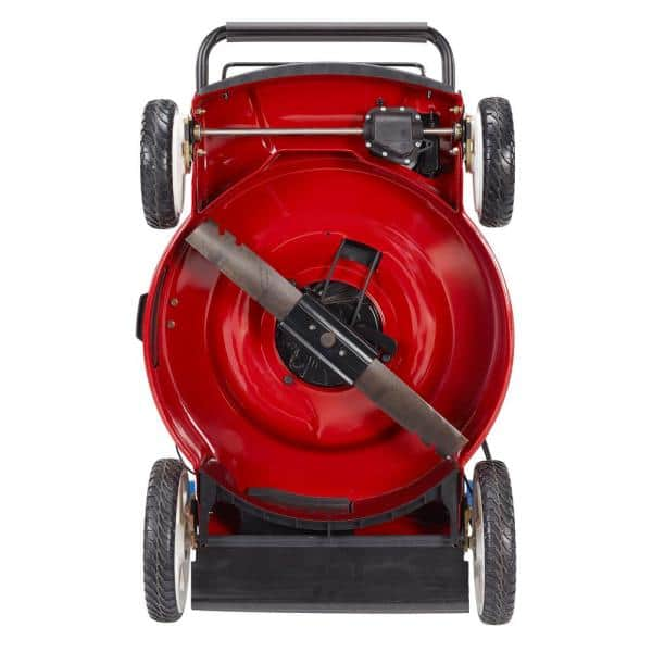 1 Year Guarantee Q Garden QG39-130 4 Wheel Petrol Rotary Lawnmower with 3 Cutting Heights 39cm Cutting Width and 35L Collection Bag