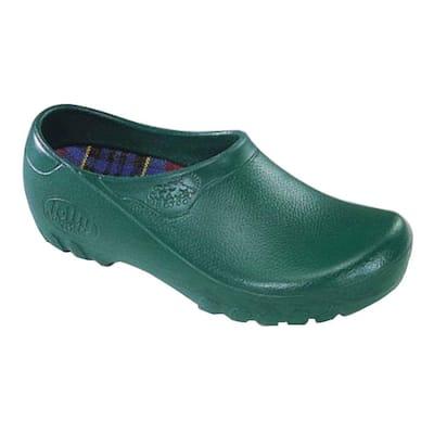 Men's Hunter Green Garden Shoes - Size 9