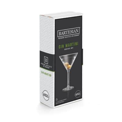 Gin Martini 6-Piece Clear Plastic Cocktail Mix Capsules