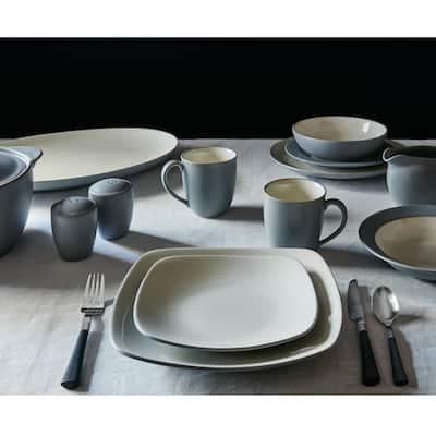 Colorwave Slate Grey  Stoneware Rim Dinner Plate 11 in.