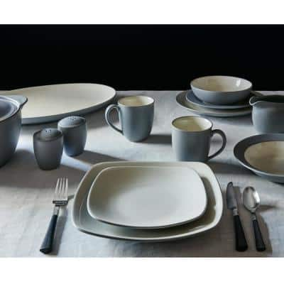 Colorwave Slate Grey Stoneware Square 4-Piece Place Setting (Service for 1)