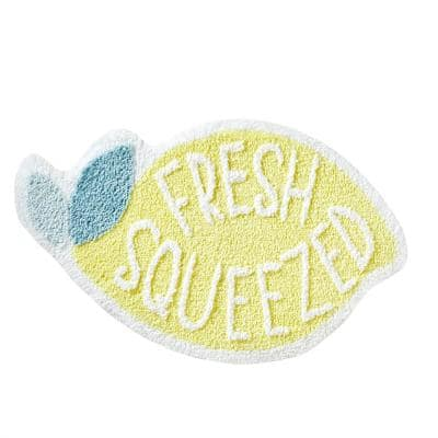 Fresh Squeezed Yellow 30 in. x 18 in. 100% Polyester Bath Rug