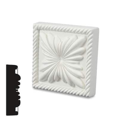 1-1/8 in. x 4-5/16 in. x 4-5/16 in. Primed Polyurethane Rope Corner Block Moulding