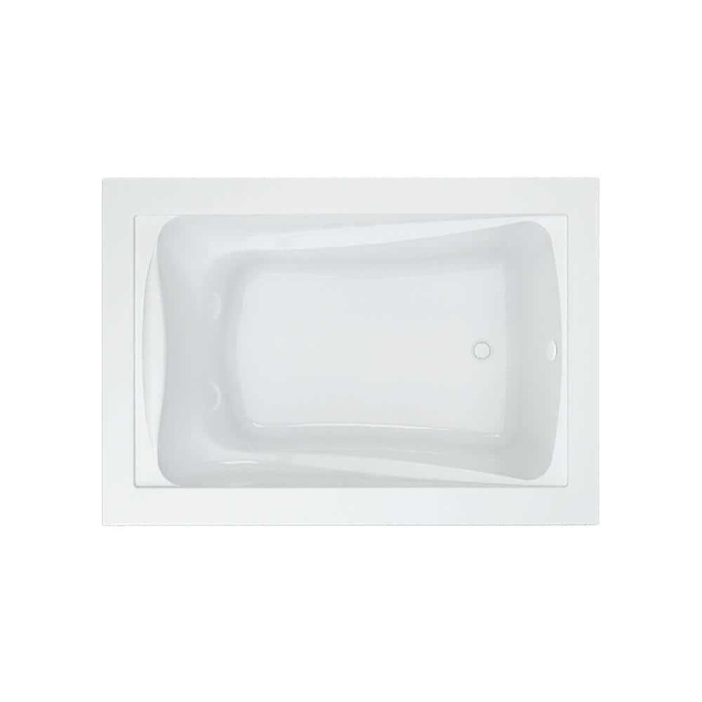 American Standard Green Tea 5 Ft X 42 In Reversible Drain Soaking Bathtub In White 3574 002 020 The Home Depot