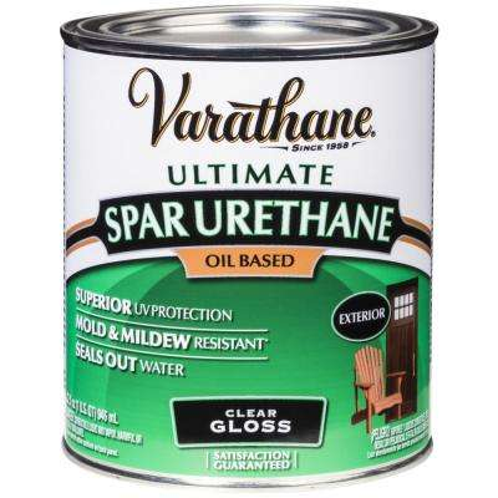 1 qt. Clear Gloss Oil-Based Exterior Spar Urethane