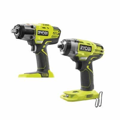 ONE+ 18V Lithium-Ion Cordless 3-Speed 1/2 in. Impact Wrench and 3/8 in. 3-Speed Impact Wrench (Tools Only)