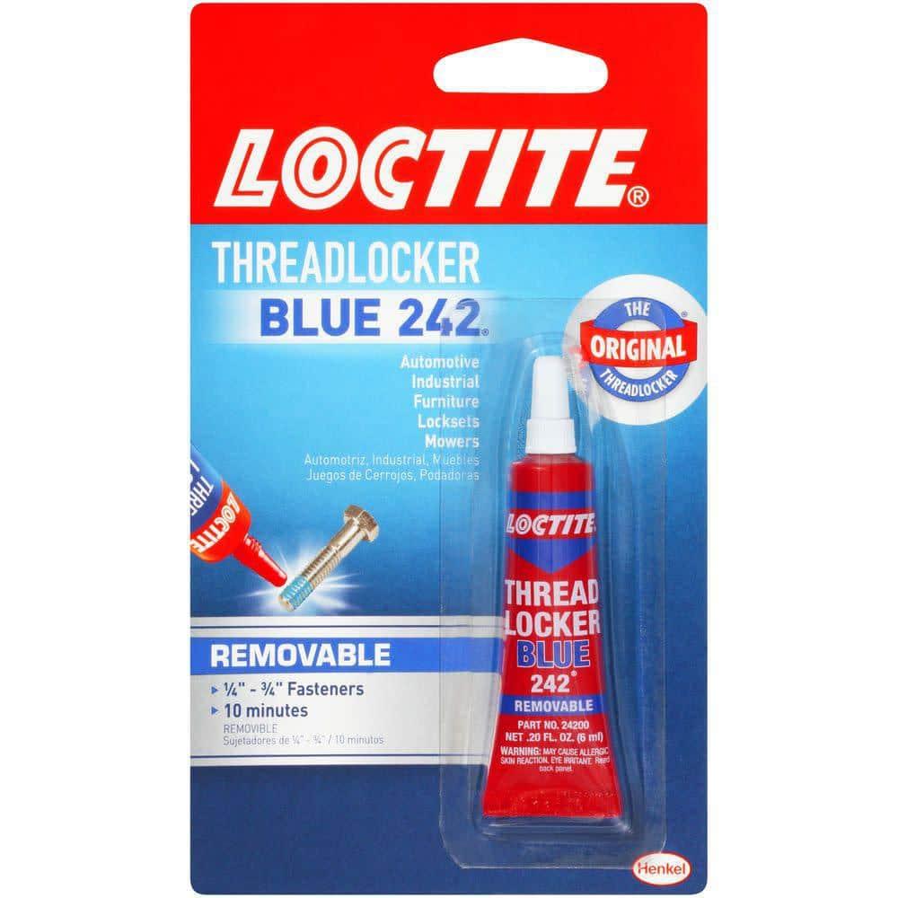 Loctite Threadlocker Blue 242 0.20 fl. oz. Specialty Glue
