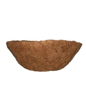 English Garden 14 in. Premium Round Replacement Coconut Liner with Soil Moist Mat (2-Pack)