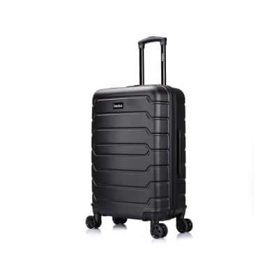 Trend 24 in. Black Lightweight Hardside Spinner Suitcase