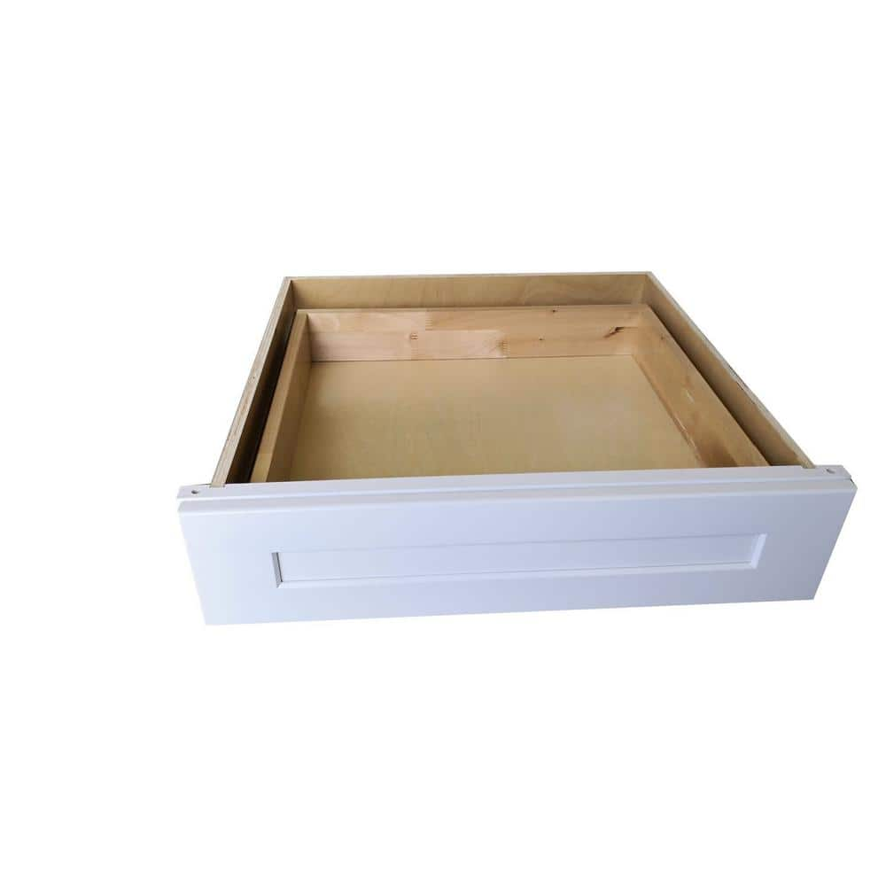 Plywell Ready To Assemble Shaker 24x7x21 In Base Knee Drawer In White Swxdd24 The Home Depot
