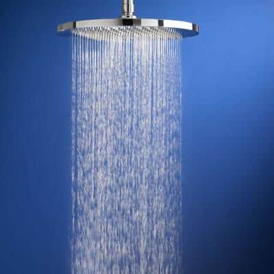 Modern 1-Spray 10 in. Single Ceiling Mount Fixed Rain Shower Head in Brushed Nickel