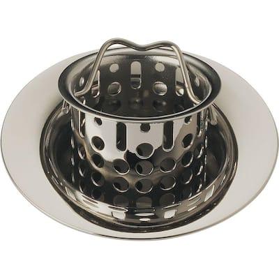 2-7/8 in. Bar/Prep Sink Flange and Strainer in Brilliance Polished Nickel