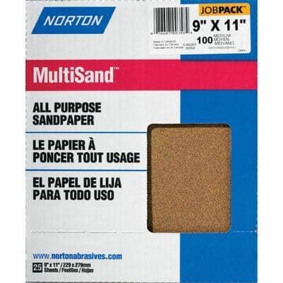 9 in. x 11 in. 100C Adalox Sandpaper (25-Pack)