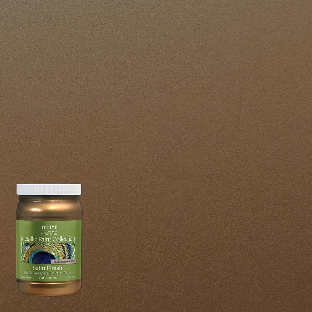 1 qt. Blackened Bronze Water-Based Satin Metallic Interior Paint