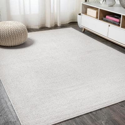 Haze Solid Low-Pile Ivory 8 ft. x 10 ft. Area Rug