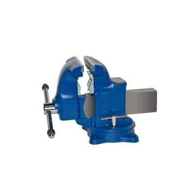8 in. Medium-Duty Tradesman Combination Pipe and Bench Vise - Swivel Base