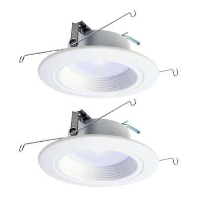 RL 5 in. and 6 in. Selectable CCT Integrated LED White Recessed Ceiling Light Trim Extra Brightness 940 Lumens (2-Packs)
