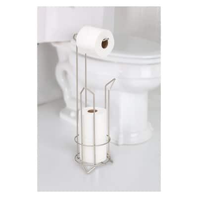 Toilet Paper Holder and Dispenser in Satin Nickel