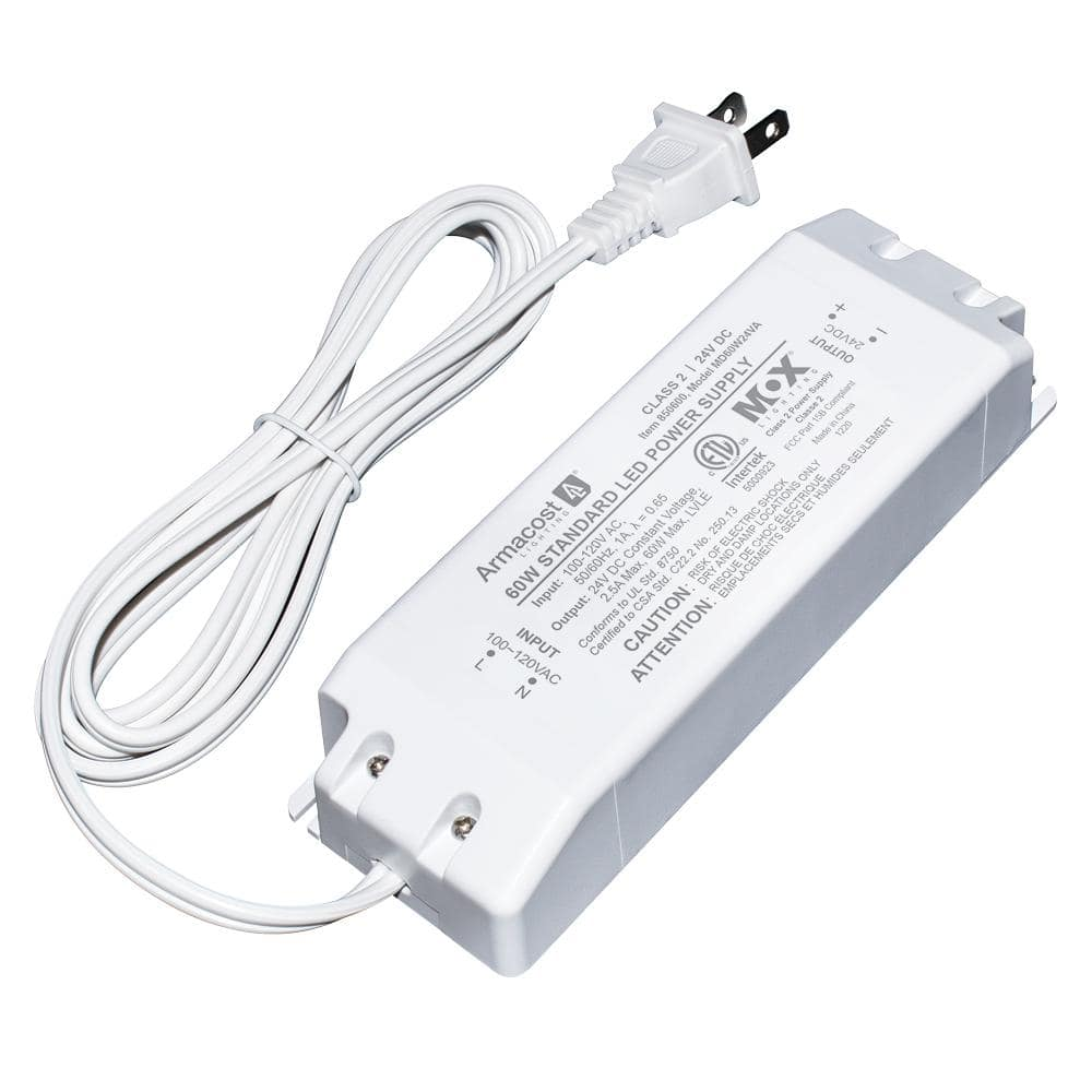 Armacost Lighting 860600 for LED Lighting White 60 Watt with Removable AC Cord