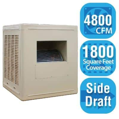 4,800 CFM Side-Draft Aspen Roof/Side Evap Cooler (Swamp Cooler) for 18 in. Ducts 1,800 sq. ft. (Motor Not Included)