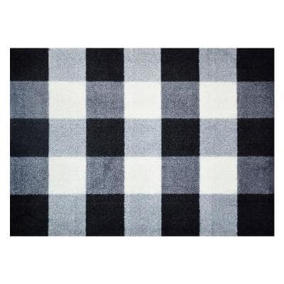 In-Home Washable/Non-Slip Buffalo Check 2 ft. 3 in. x 1 ft. 5 in. Area Rug & Mat