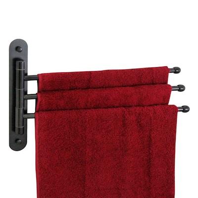 15 in. Stainless Steel Triple Swing Towel Bar in Rubbed Bronze