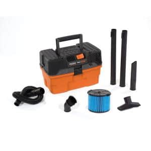 4.5 Gallon 5.0-Peak HP ProPack Wet/Dry Shop Vacuum with Fine Dust Filter, Expandable Hose and Accessories