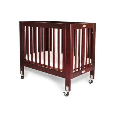 Olympia Mini/Portable Cherry Folding Wood Crib