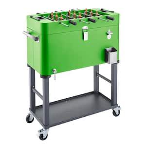 80 qt Detachable Tub Foosball Cooler w/ Cover Green