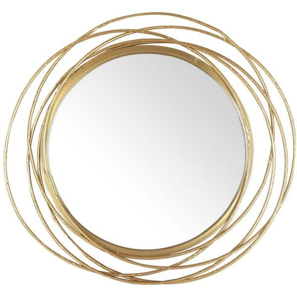 Mirrorize Canada 27 5 In Dia Framed, Round Decorative Mirror Canada