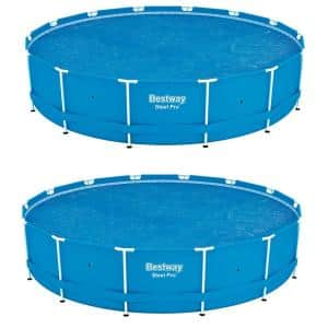 Bestway 14 ft. Round Floating Above Ground Swimming Pool Solar Heat Cover (2-Pack)