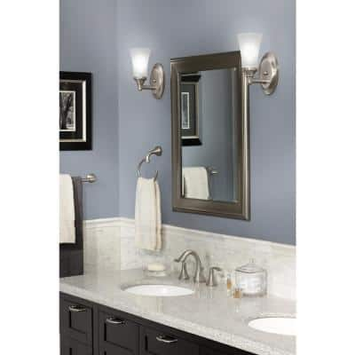 Eva 3-Piece Bath Hardware Set with 24 in. Towel Bar, Paper Holder, and Towel Ring in Brushed Nickel